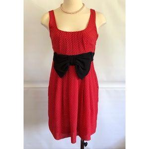 H&M Casual Dress pleats Polka Dot Print Size: 2